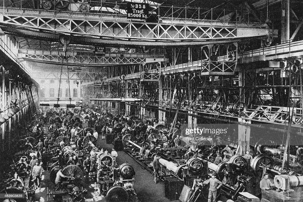 the krupp gun factory number 1 essen germany world war i 1917 news photo getty images. Black Bedroom Furniture Sets. Home Design Ideas