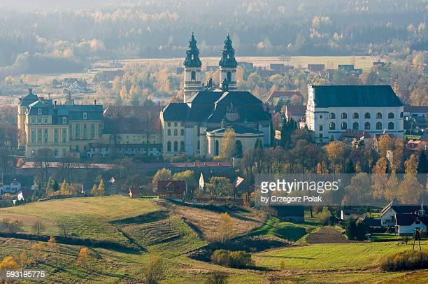 the krzeszow abbey - saint joseph stock pictures, royalty-free photos & images