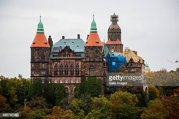 The Ksiaz Castle on October 20 2015 in Walbrzych Poland The Ksiaz Castle is a part of mysterious underground Nazi city called Riese where it is...
