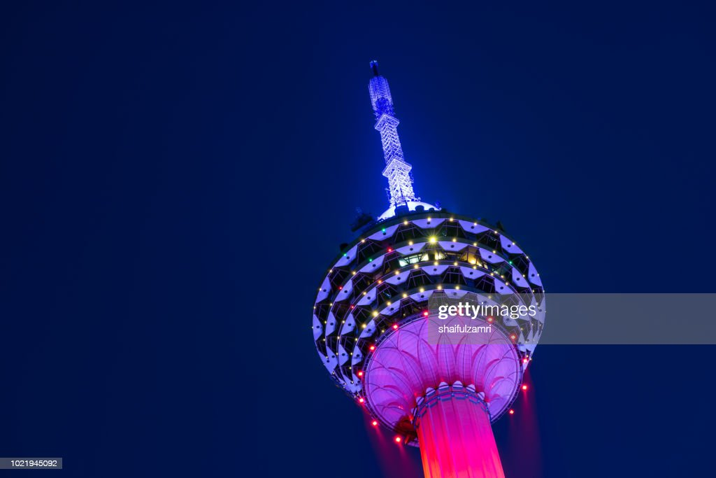 The Kuala Lumpur Tower is a communications tower located in Kuala Lumpur, Malaysia. Its construction was completed on 1 March 1995. : Stock Photo