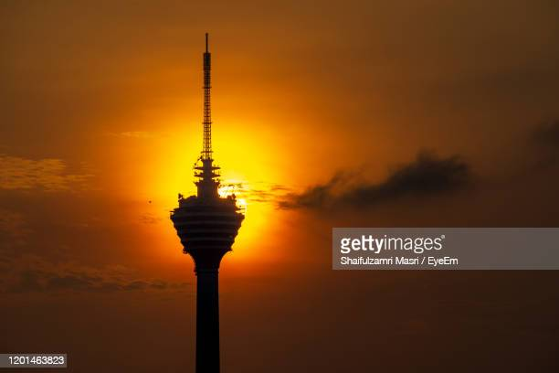 the kuala lumpur tower is a communications tower located in kuala lumpur, malaysia. - shaifulzamri eyeem stock pictures, royalty-free photos & images