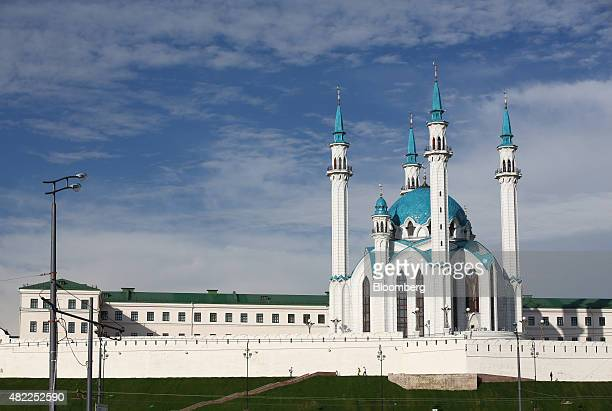 The Kul Sharif mosque complex stands in Kazan Russia on Tuesday July 21 2015 Russia's central bank halted purchases of foreign currency to replenish...