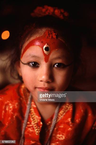 The Kumari Chandira 6 years old sitting in her ceremonial chair The Kumari Devi is regarded as the living embodiment of a goddess Each girl's term...