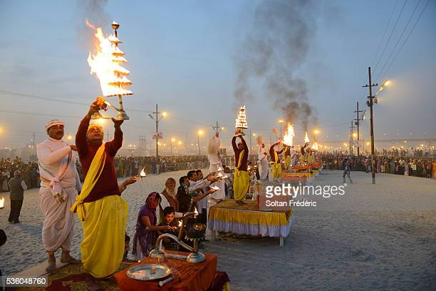 the kumbh mela hindu pilgrimage - prayagraj stock pictures, royalty-free photos & images