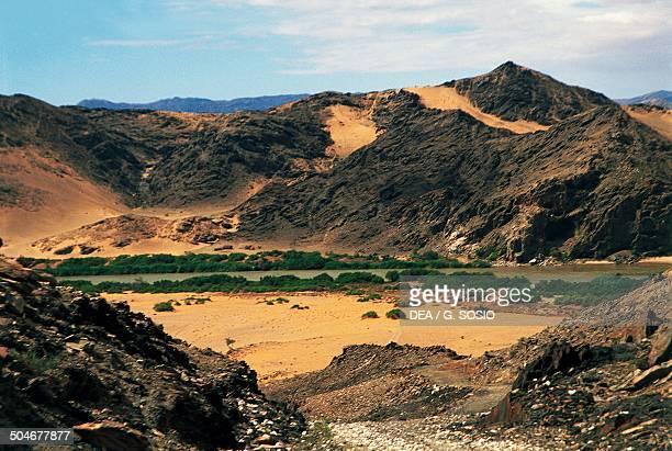 The Kunene River along the border with Angola Namibia