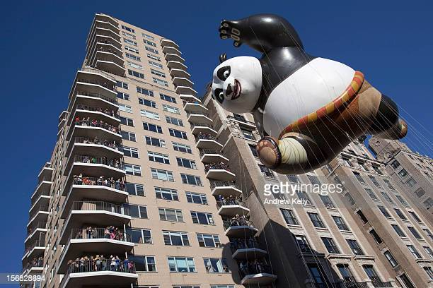 The Kung Fu Panda balloon makes its way down the streets of Manhattan during the 86th Annual Macy's Thanksgiving Day Parade November 22 2012 in New...