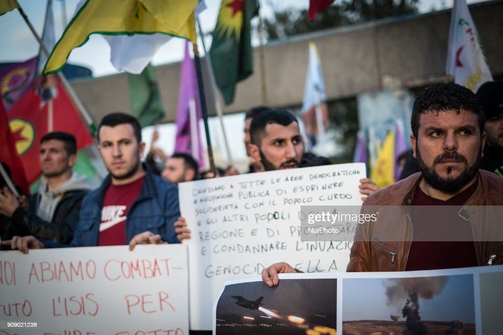 Kurdish Community Protests Against Turkish Bombardment In Syria