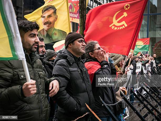 The Kurdish diaspora gathered in front of the Turkish consulate in Brussels to protest against the massacre of civilians in Cizre