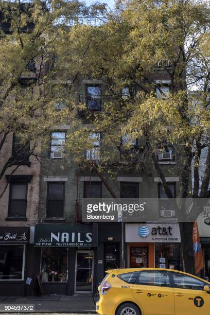 The Kushner Cos 129 First 1st Avenue apartment building stands in the East Village neighborhood of New York US on Sunday Dec 10 2017 Kushner Cos has...