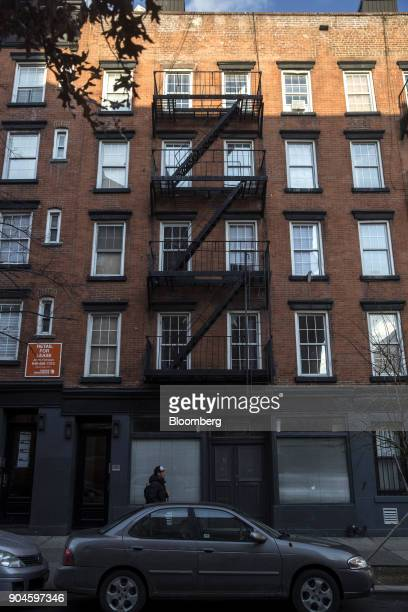 The Kushner Cos 201 East 4th Street apartment building stands in the East Village neighborhood of New York US on Sunday Dec 10 2017 Kushner Cos has a...