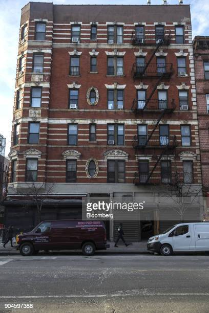 The Kushner Cos 211 Avenue A apartment building stands in the East Village neighborhood of New York US on Sunday Dec 10 2017 Kushner Cos has a stake...