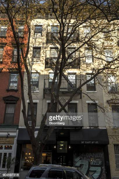 The Kushner Cos 267 East 10th Street apartment building stands in the East Village neighborhood of New York US on Sunday Dec 10 2017 Kushner Cos has...