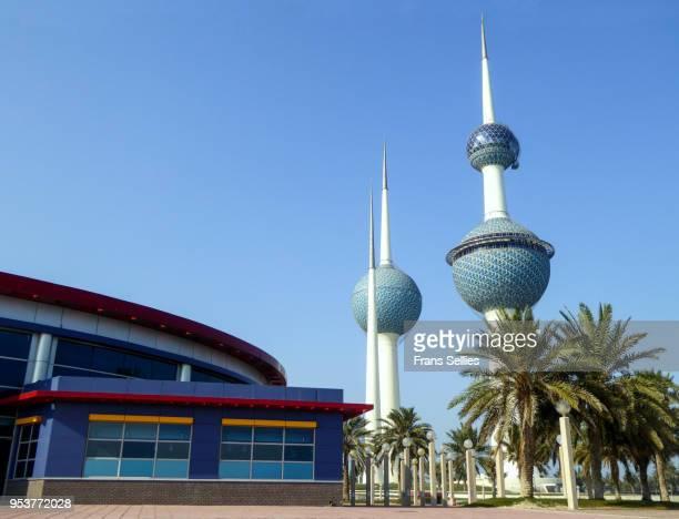 the kuwait towers, kuwait - frans sellies stockfoto's en -beelden