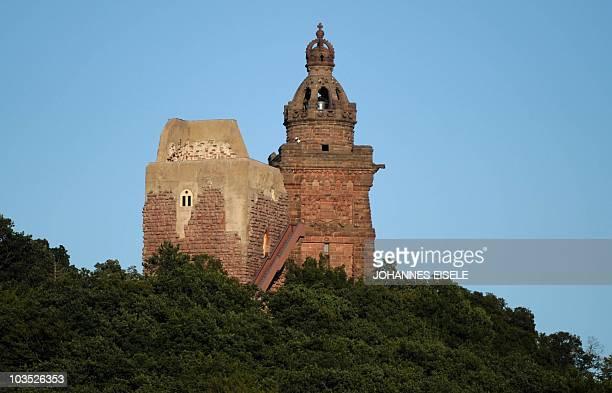 The Kyffhaeuser Monument also known as Barbarossa Monument or Kaiser Wilhelm Monument is pictured on August 20 2010 near Bad Frankenhausen eastern...