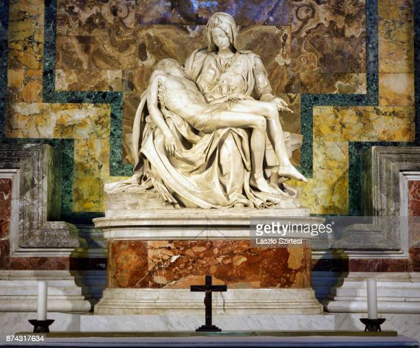 The 'La Pieta' is seen at St Peter's basilica on November 1 2017 in Vatican City Vatican Thousands of people visit every day the largest christian...