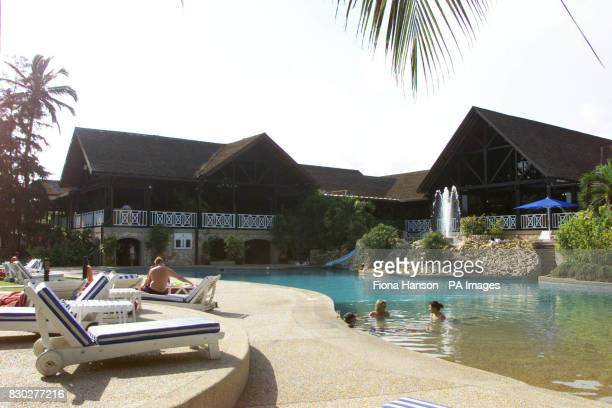 The Labadi Hotel in Ghana where Britain's Queen Elizabeth II will stay during her three day State visit to the west African state