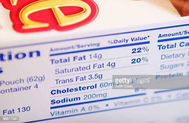 The label on a box of Hostess Brownie Bites lists 35 grams of Trans Fat January 3 2006 in Chicago Illinois New Regulations from the Food and Drug...