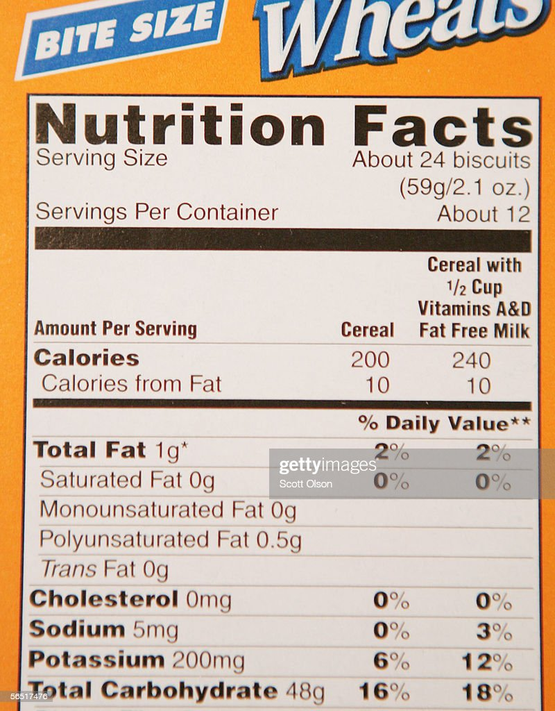 the label on a box of kellogg's frosted mini wheat lists 0 grams of
