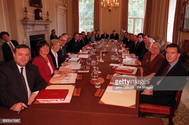 The Labour Cabinet at their first meeting since the reshuffle including Secretary of State for Trade and Industry Peter Mandelson Mandelson resigned...