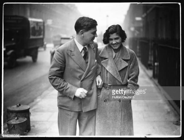 The Labour politicians Aneurin Bevan and Jennie Lee after their marriage at Bloomsbury Registry Office