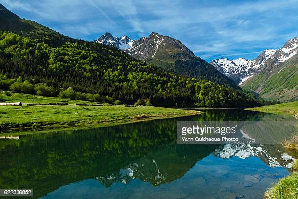 the lac d estaing,national park of pyrenees, hautes pyrenees, france - hautes pyrenees stock pictures, royalty-free photos & images