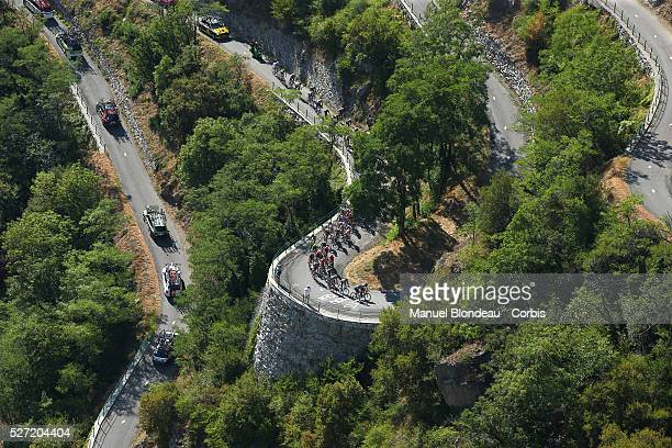 The Lacets de Montvernier during the 2015 Tour of France, Stage 18, Gap - Saint-Jean-De-Maurienne, on July 23, 2015. The 102nd edition of the Tour de...