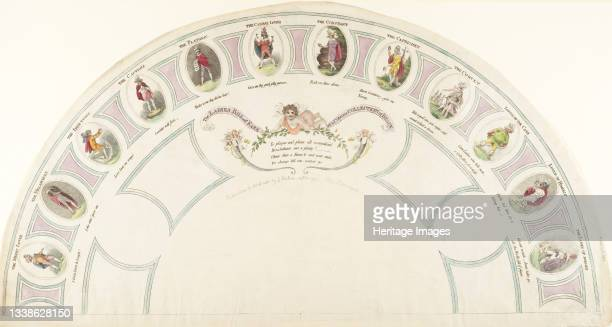 The Ladies Bill of Fare, or, a Copious Collection of Beaux, 1795. Artist Unknown.