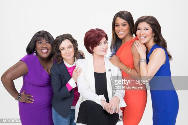 The ladies of The Talk for the CBS Television Network From left Sheryl Underwood Sara Gilbert Sharon Osbourne Eve and Julie Chen shown