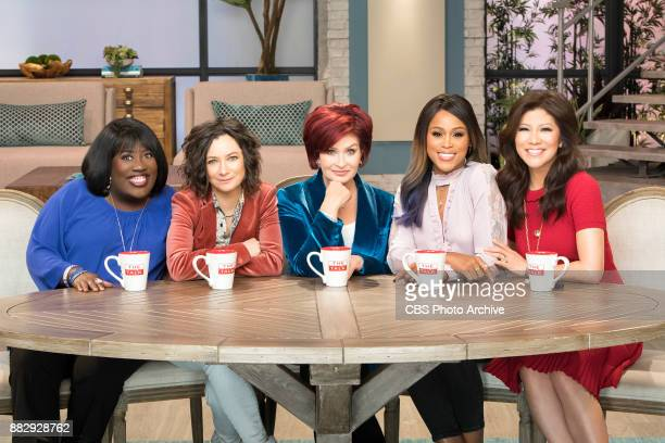 The ladies of The Talk on the CBS Television Network From left Sheryl Underwood Sara Gilbert Sharon Osbourne Eve and Julie Chen shown