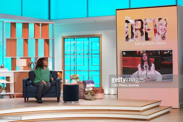 """The ladies of """"The Talk,"""" September 21, 2020 on the CBS Television Network. From left Sheryl Underwood, Drew Barrymore."""