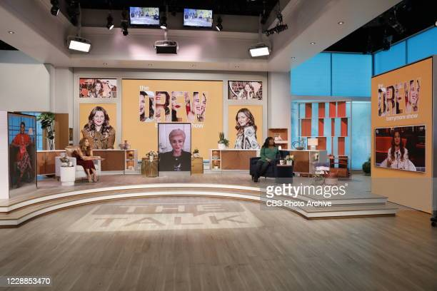 """The ladies of """"The Talk,"""" September 21, 2020 on the CBS Television Network. From left, Eve, Carrie Ann Inaba, Sharon Osbourne and Sheryl Underwood,..."""