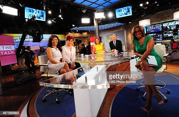 The ladies of The Talk visit CBS This Morning on Tuesday Sept 8 2015 on the CBS Television Network From left Julie Chen Sharon Osbourne Norah...