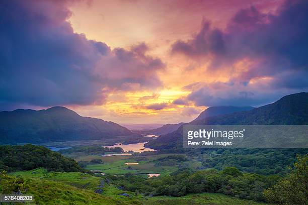 the ladies view in ireland - ring of kerry stock photos and pictures