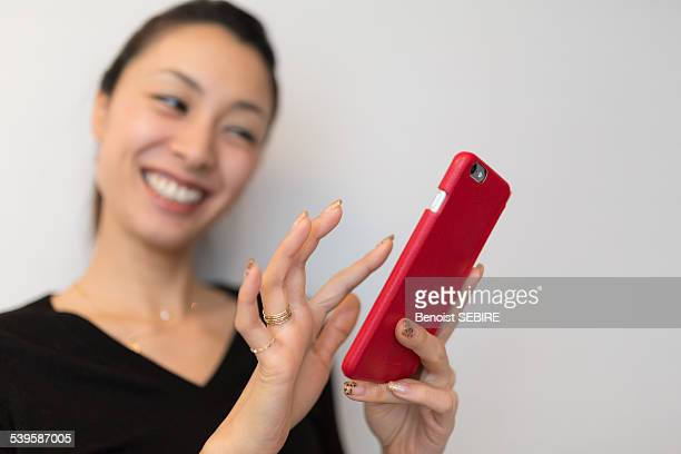 The lady and her phone