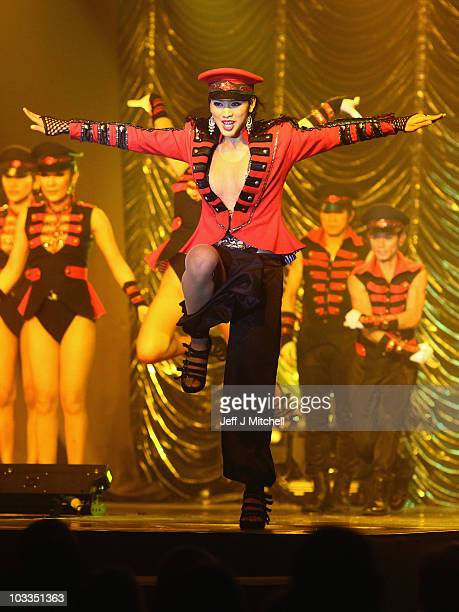 The Lady boys of Bangkok perform part of their cabaret show on August 11 2010 in Edinburgh Scotland The festival favourites return once more to...