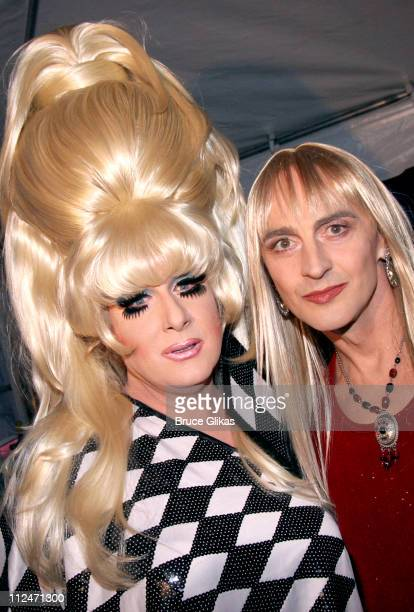 The Lady Bunny and John Kelly as Joni Mitchell during Wigstock Festival 2005 at Tompkins Square Park in New York City, New York, United States.
