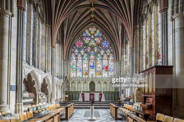 The Lady Chapel in Exeter cathedral, UK.