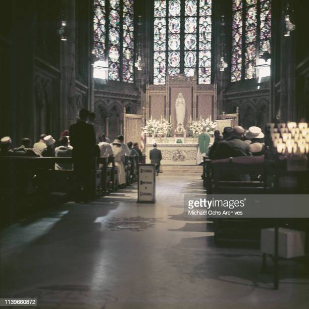 The Lady Chapel in St Patrick's Cathedral, New York City, circa 1961.