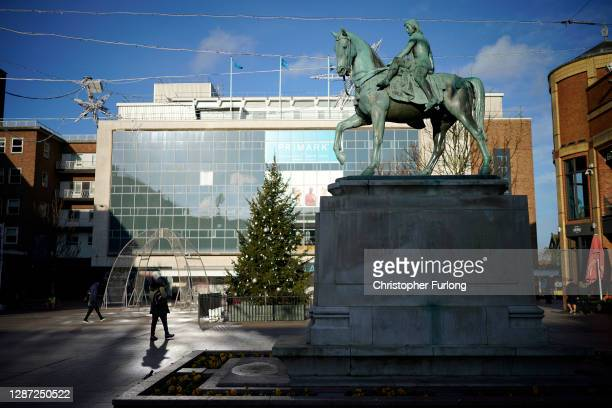 The Lady Godiva statue stands in the centre of Coventry on November 23, 2020 in Coventry, England. Coventry won a quadrennial competition held by...