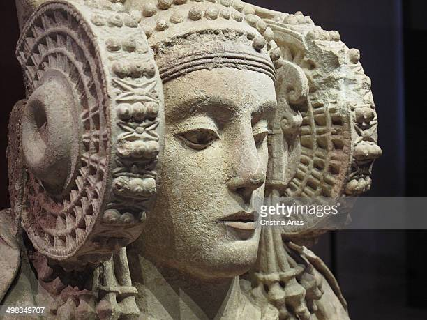The Lady of Elche is the most famous Iberian sculpture bust made of limestone with polychrome dated between the V and IV centuries BC depicting a...