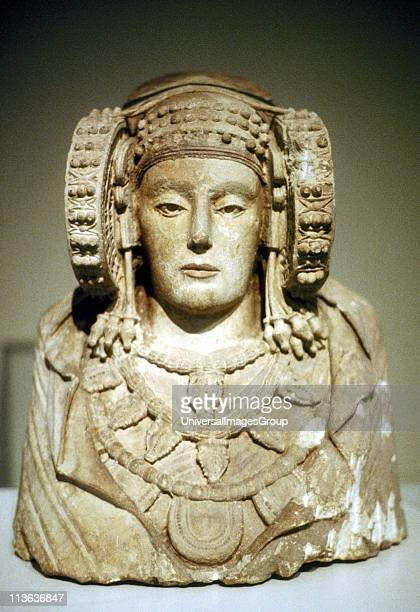 The Lady of Elche Painted limestone bust of 5th century BC from La Alcuidia de Elche Carthaginian influence
