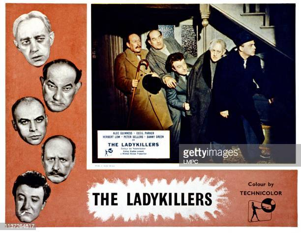 The Ladykillers lobbycard from left Cecil Parker Danny Green Peter Sellers Alec Guinness Herbert Lom 1955