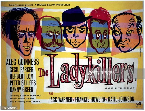 The Ladykillers poster Alec Guinness Cecil Parker Herbert Lom Peter Sellers Danny Green 1955