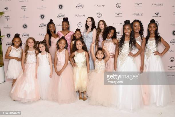 The LadyLike girls D'Lila Star Combs Chance Combs and Jessie James Combs attend The LadyLike Foundation Women Of Excellence Luncheon at The Beverly...