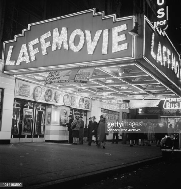 The Laff Movie theatre on West 42nd Street New York City circa 1943
