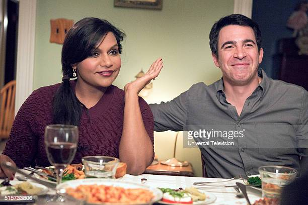 PROJECT 'The Lahiris and the Castellanos' Episode 411 Pictured Mindy Kaling as Mindy Lahiri Chris Messina as Danny Castellano