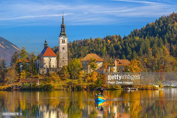 The Lake Bled in Slovenia