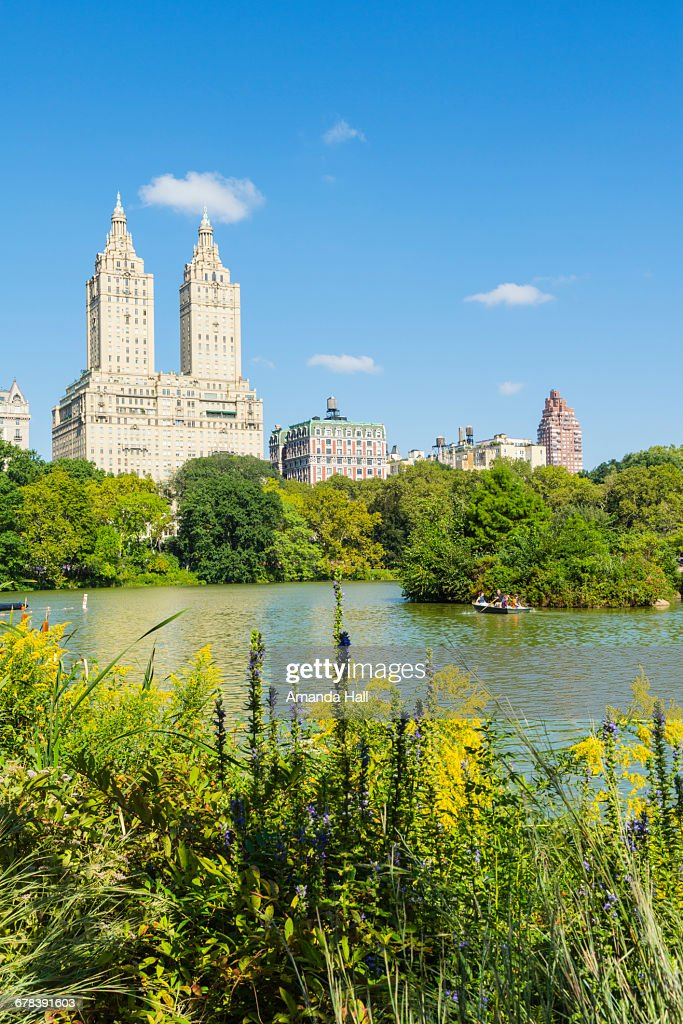 The Lake Central Park With The San Remo Building Beyond