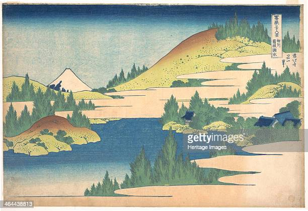 The lake of Hakone in Sagami Province 18301833 Found in the collection of the State A Pushkin Museum of Fine Arts Moscow