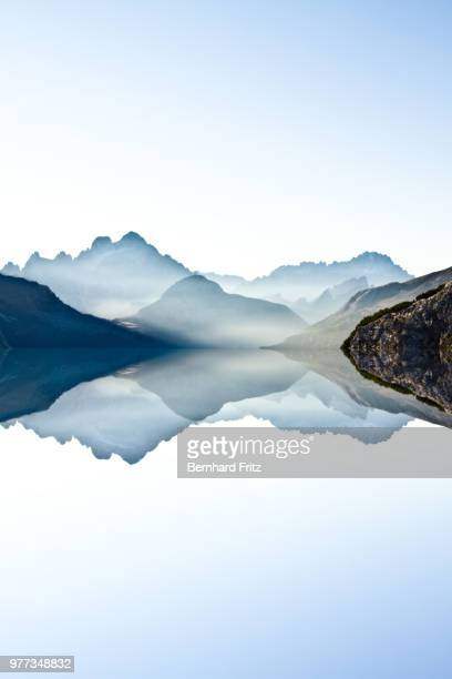 the lake (italy, dolomites) - symmetry stock pictures, royalty-free photos & images